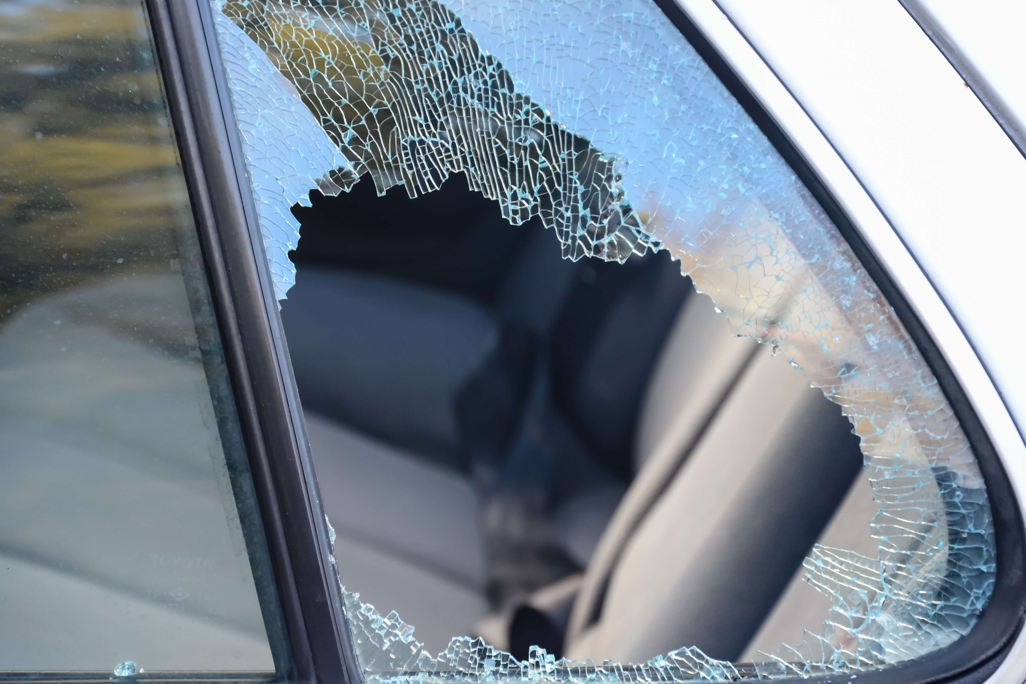 Car Window that was Broken into
